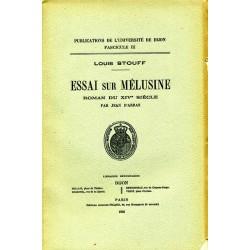 Essai sur Mélusine Roman du XIVe siècle
