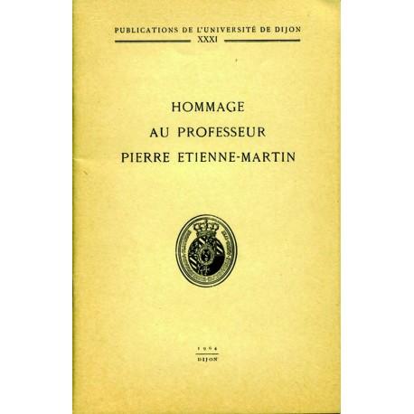 Hommage au Professeur Pierre Etienne-Martin