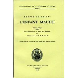 Honoré de Balzac L'enfant maudit Édition critique établie avec introduction et relevé de variantes par François Germain