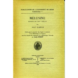 Mélusine Roman du XIVe siècle Jean D'Arras
