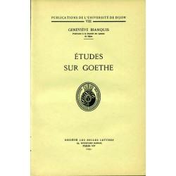 Études sur Goethe