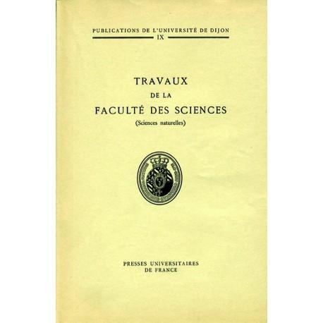 Travaux de la faculté des sciences (Sciences naturelles)