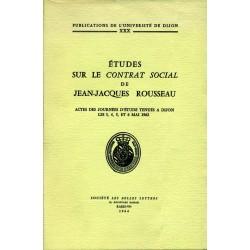 Études sur le contrat social de Jean-Jacques Rousseau