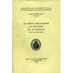 Les effets pécuniaires du mariage en Nivernais du XIVe au XVIIIe siècle