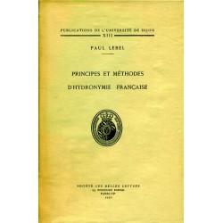 Principes et méthodes d'hydronymie française