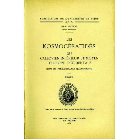 Les Kosmocératidés du callovien inférieur et moyen d'Europe Occidentale Essai de paléontologie quantitative