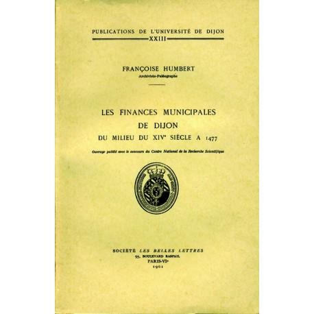 Les finances municipales de Dijon du milieu du XIVe siècle à 1477