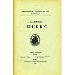 À la mémoire d'Emile Roy