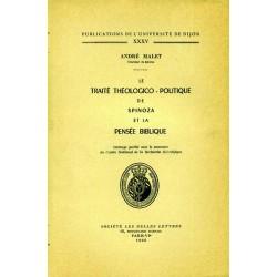 Le Traité Théologico-Politique de Spinoza et la pensée biblique