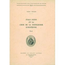 Italo Svevo et la crise de la bourgeoisie européenne