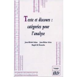 Texte et discours : catégories pour l'analyse