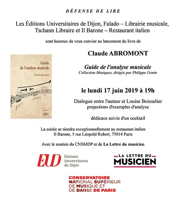 Affiche Claude Abromont